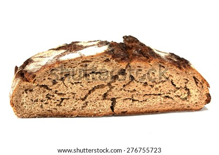 dry bread / isolated / still life - stock photo