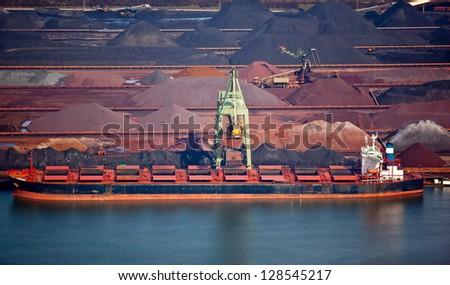 Dry bulk shipping - stock photo