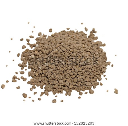 dry dirt isolated on white background - stock photo