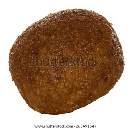 Dry dog food isolated on white - stock photo
