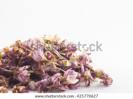 dry flower isolated on white background.copy space - stock photo