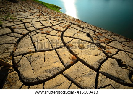 Dry land on global warming.