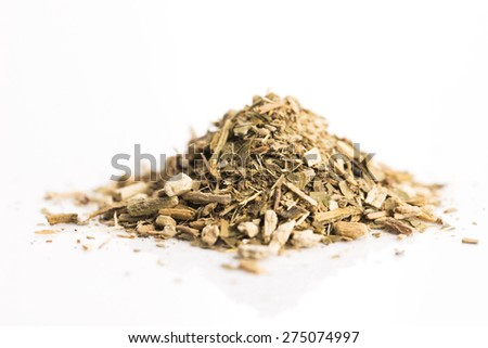 Dry mate tea, isolated on white - stock photo