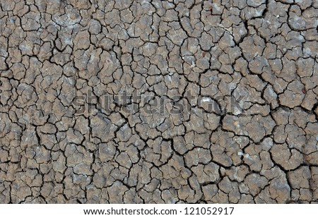 Dry mud from a dry area - stock photo
