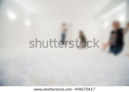 Dry pool for adults activity theme creative abstract blur background with bokeh effect - stock photo