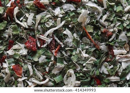 dry seasoning, dry ingridients photo, dry spice, dry onion, dry pepper, dry herbs, dry parsley, seasoning blend, food ingridients - stock photo