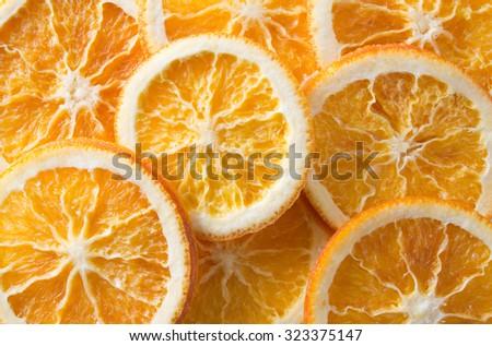 dry slices of orange - stock photo
