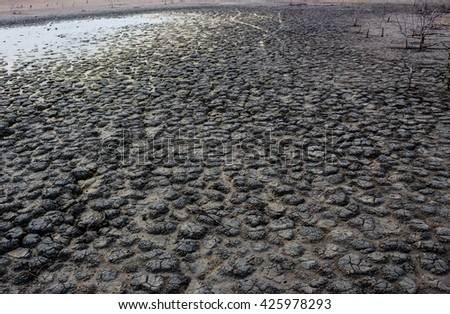 Dry soil Arid, drought land background. - stock photo