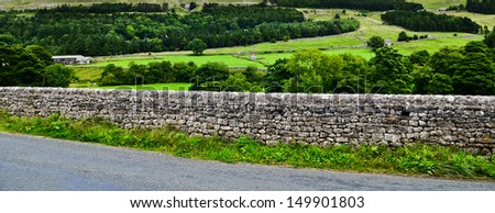 Dry stone wall in the Yorkshire Dales - stock photo