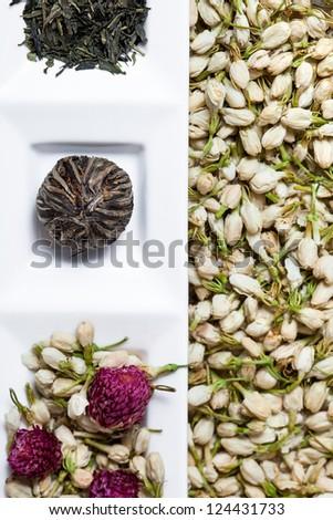 Dry Tea Flowers - stock photo