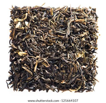 dry tea, isolated on white background - stock photo