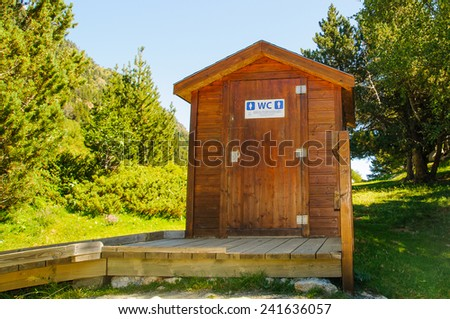 dry toilets, no water or chemicals - stock photo