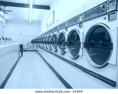 Dryer doors - stock photo