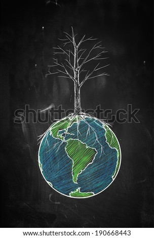 Dryness of the world - stock photo