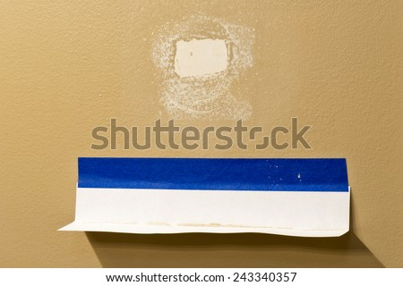 Drywall Dust Catcher For Sanding Nail Pops And Small Repairs - stock photo