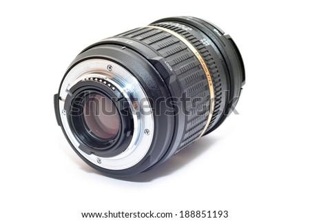 dslr camera lens   - stock photo