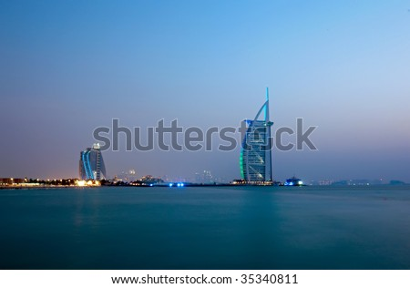 Dubai Beach Landscape - stock photo