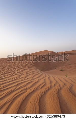 Dubai desert sand dunes - stock photo