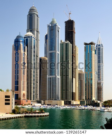 Dubai. Dubai Marina - stock photo