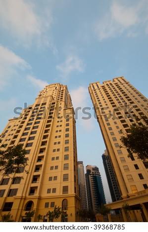 Dubai Jumeirah Beach Residence Apartments - stock photo