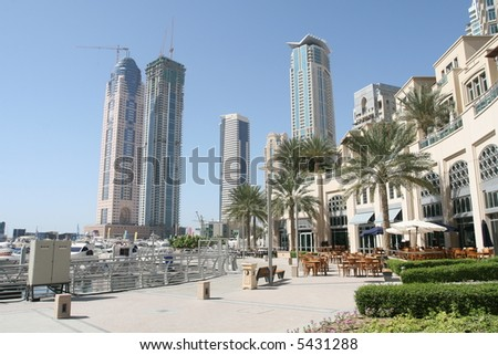 Dubai Marina Residences - stock photo