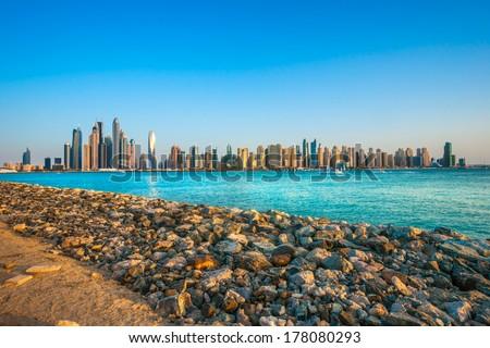 Dubai Marina. UAE - stock photo