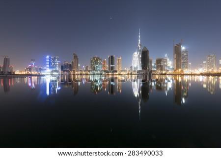 Dubai skyline  - stock photo