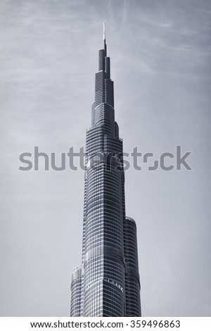 DUBAI, UAE: Burj khalifa, Downtown on September 23, 2015 in Dubai, UAE - stock photo