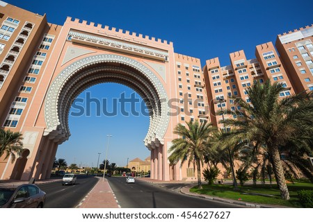 DUBAI, UAE - NOV 2: Movenpick Ibn Battuta Gate Hotel in Dubai. NOV 2, 2013 in Dubai, United Arab Emirates - stock photo