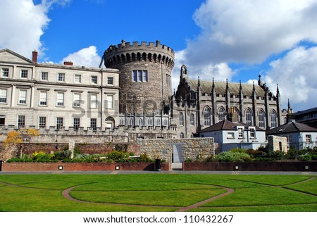 Dublin Castle in Dublin, Ireland - stock photo