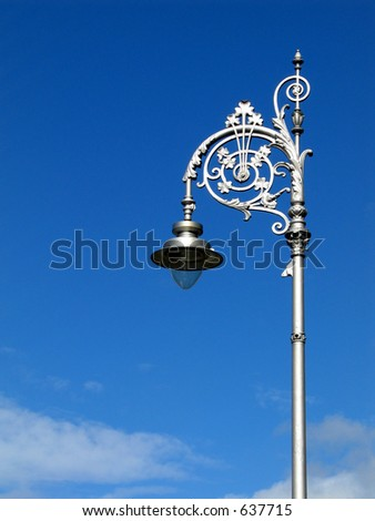 Dublin street lamp - stock photo