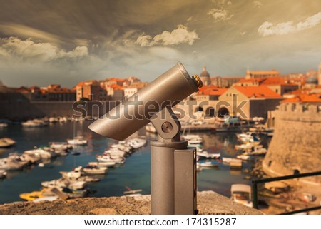 Dubrovnik old city - stock photo