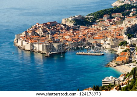 Dubrovnik - Old town at Adriatic sea - stock photo