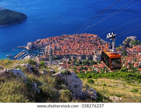 Dubrovnik ropeway  - stock photo