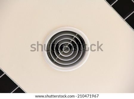 duct air condition flow tube output - stock photo