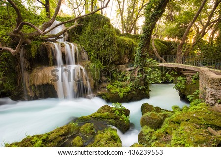 Duden Falls, Antalya, Turkey - stock photo