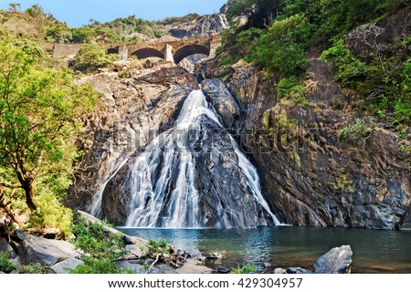 Dudhsagar falls - stock photo