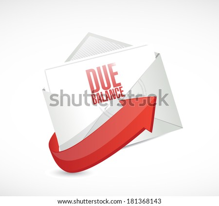 due balance email illustration design over a white background - stock photo