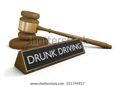 DUI laws and crackdown on drunk driving - stock photo