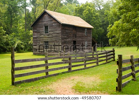 Duke Homestead State Historic Site - stock photo