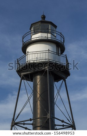 Duluth Inner Canal Lighthouse - stock photo