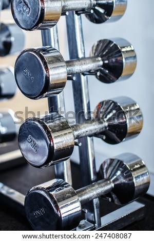 Dumbbells For Fitness - stock photo