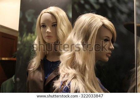 dummies of young women - stock photo