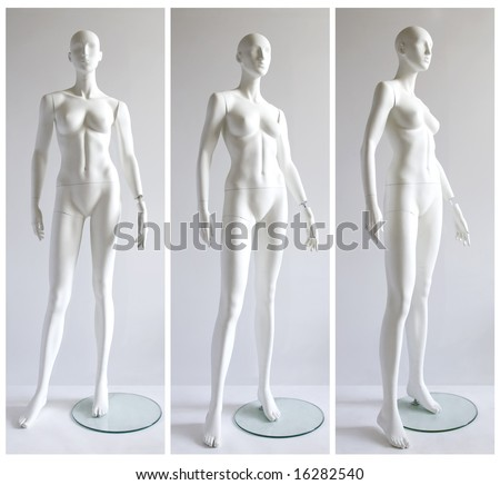 dummy - 3 angle of view - stock photo