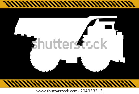 Dump truck construction machinery equipment  - stock photo