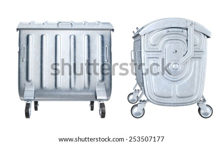 Dumpster on white background. 3D image - stock photo