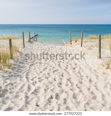 Dune at the Baltic Sea - stock photo