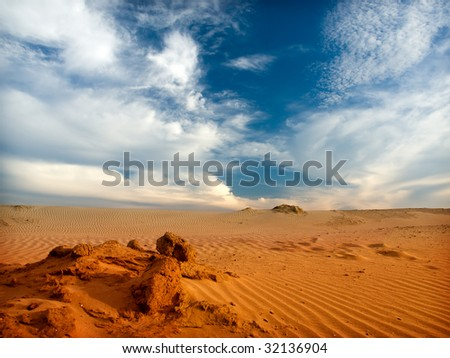 Dune Desert Sahara - stock photo
