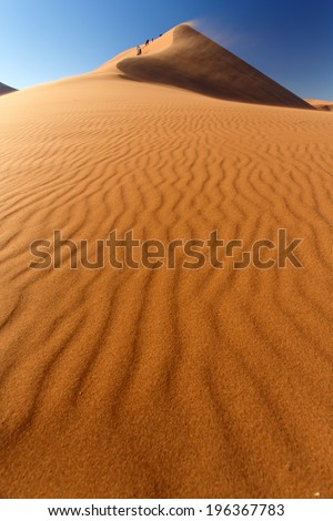 Dune 45 in Namib Desert National Park, Namibia, Africa - stock photo