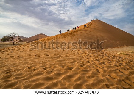 Dune 45 Namibia - stock photo